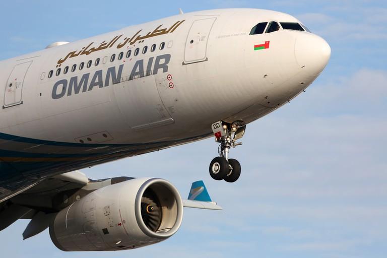 Oman Air plane