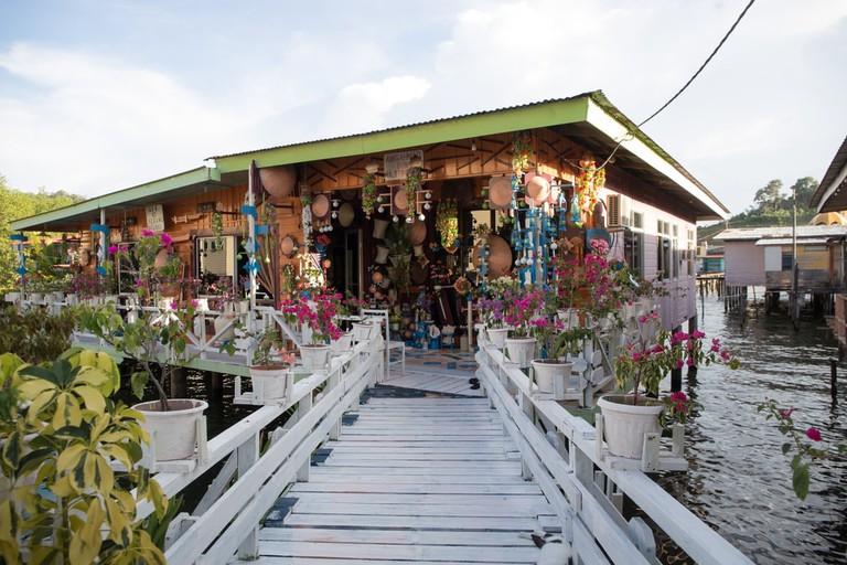 Water village house at Kampong Ayer, Seri Begawan.