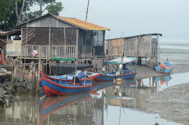 Fishing village at Penang, Malaysia