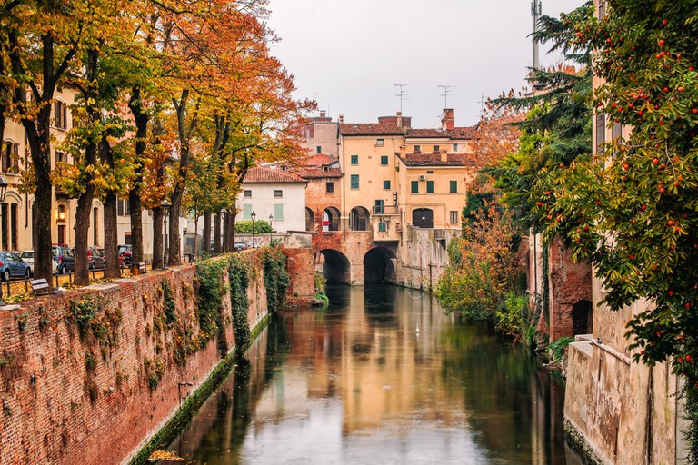 The River Rio in the town of Mantua, Lombardy, Northern Italy