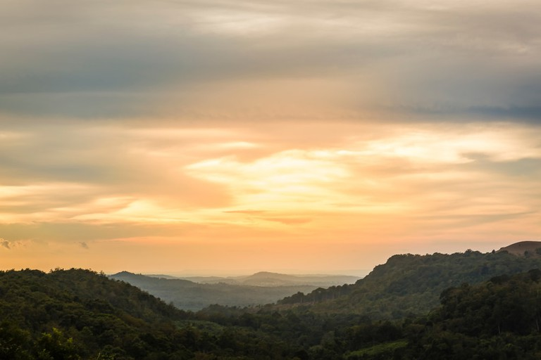 Sunset from one of the hill in Mondulkiri, Cambodia