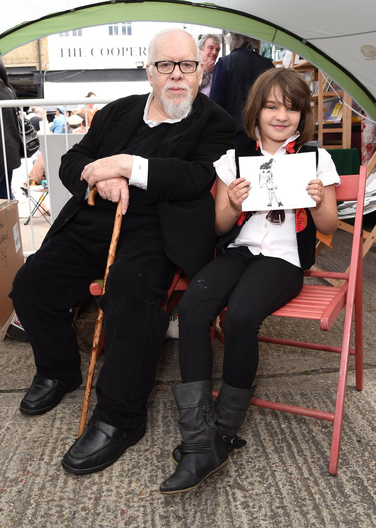 Sir Peter Blake at the London 2015 Art Car Boot Fair