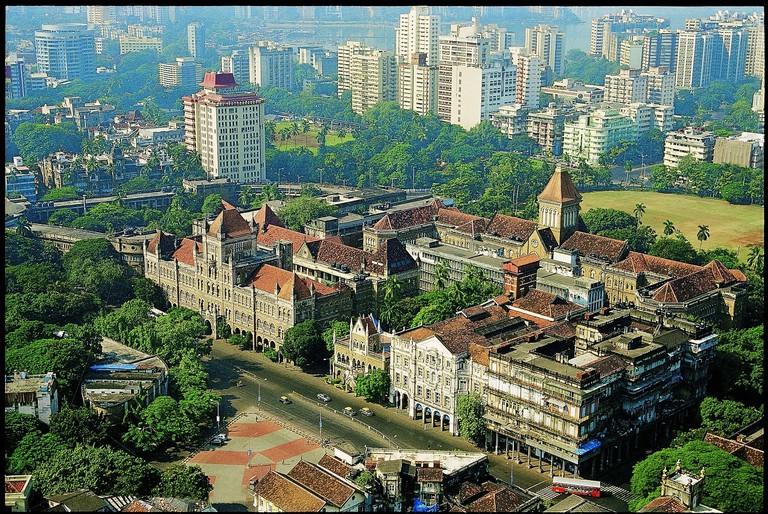 Une vue aérienne du paysage urbain de Kala Ghoda