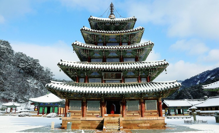 Temple de Beopjusa, Salle des Huit Photos