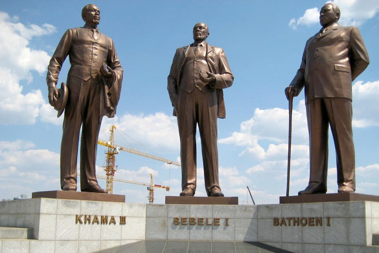 Three Dikgosi Monument, Gaborone
