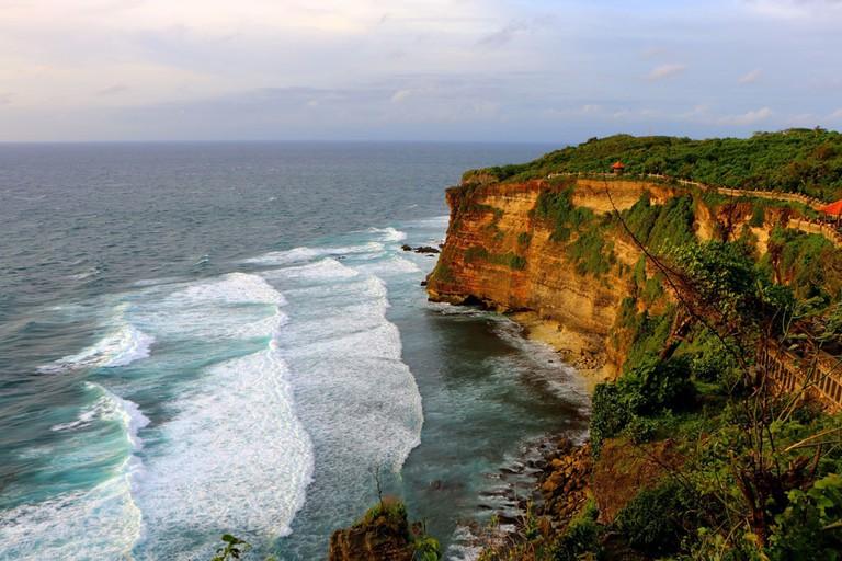The mesmerizing cliffs in Uluwatu, Bali.