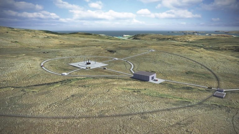 Artist Impression Of UK's First Vertical Spaceport In Sutherland, Scotland