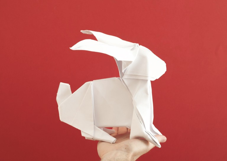 Large Origami Rabbit by Ross Symons