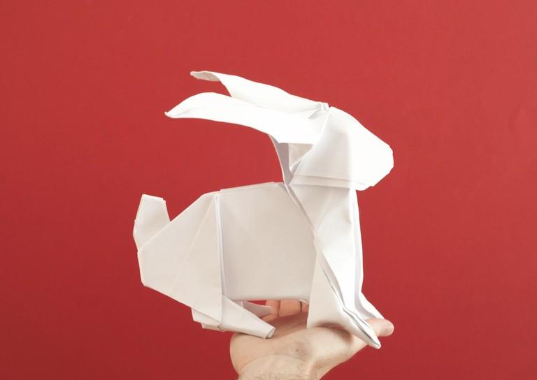 Large Origami Rabbit