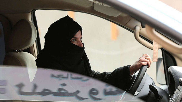 Woman driving in Saudi Arabia