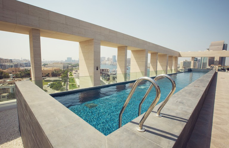 The rooftop pool at Zabeel House