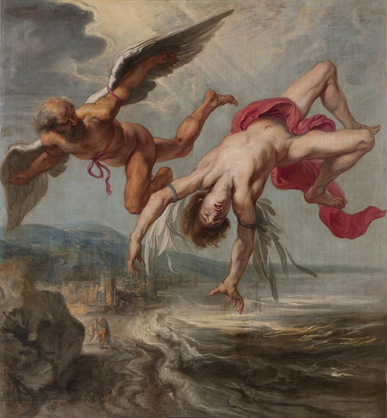 The Flight of Icarus by Flemish Baroque painter Jacob Peter Gouwy