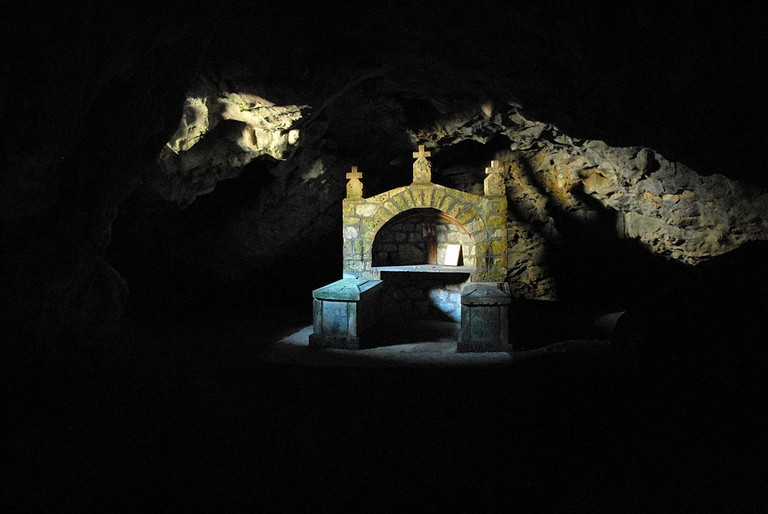 The little chapel in Kađenica Cave, Serbia