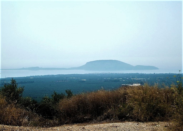 View of Proti Island, in Messinia in the Ionian Sea