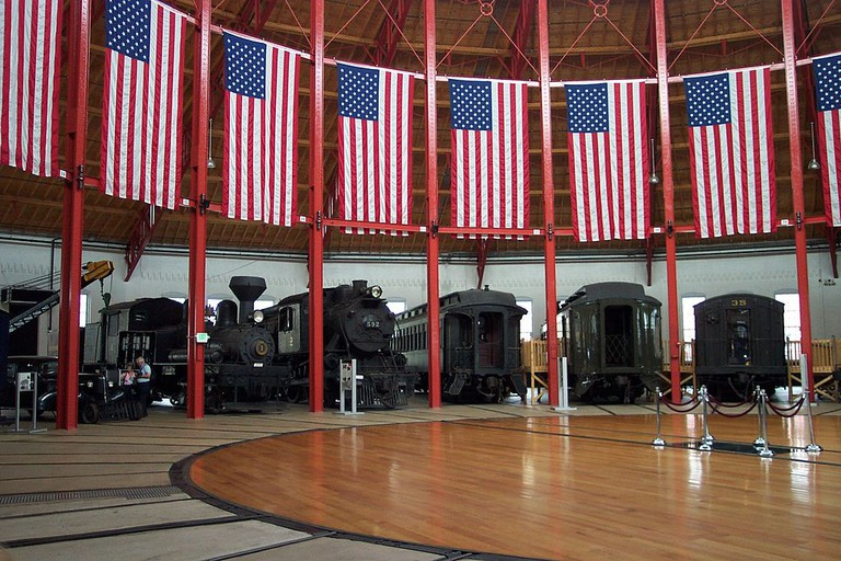 trains, B&O Railroad Museum, Baltimore, Maryland