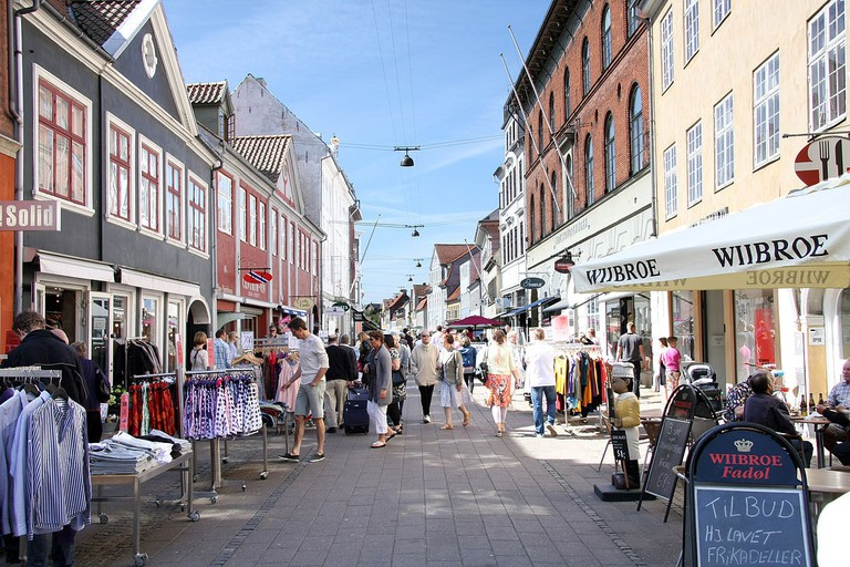Stengade is one of the most popular shopping streets in Helsingør