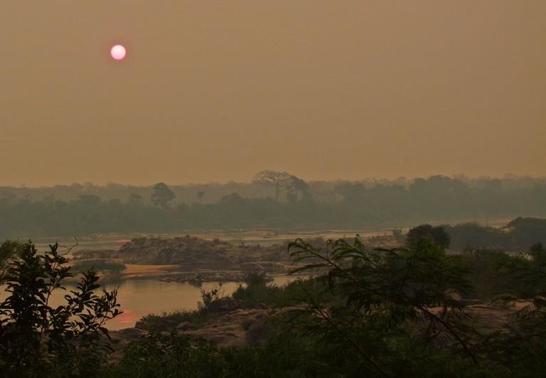 Haze over the rainforest