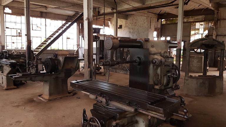 Machinery in an abandoned factory, Fordlândia
