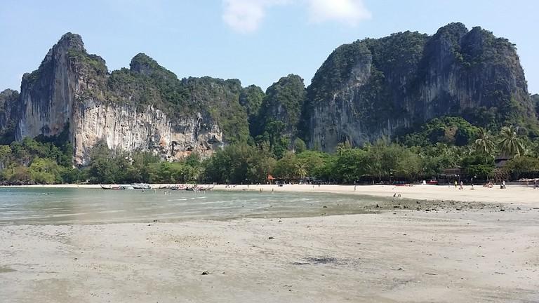 A clean beach in Krabi