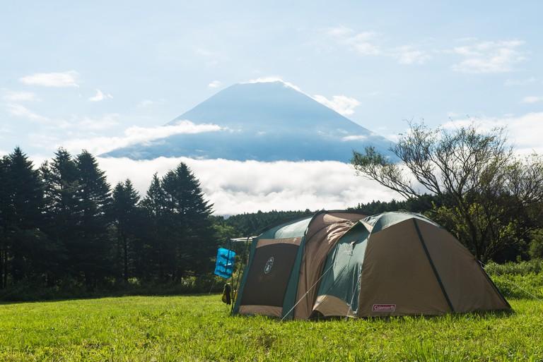 Camping at Fuji