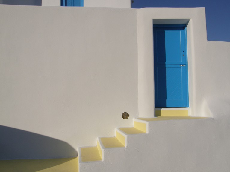A house in Akrotiri of Santorini