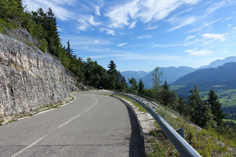 The open road in France