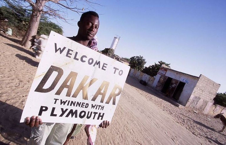 Challengers receive a special greeting when entering Dakar.