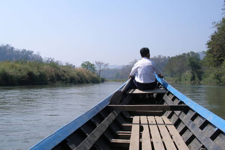 Boat ride in Mae Hong Son