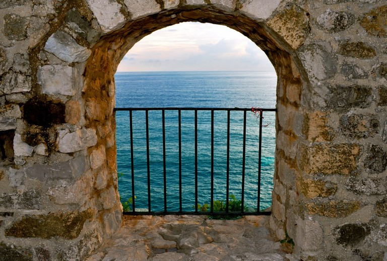 A view to the sea in Ulcinj, Montenegro