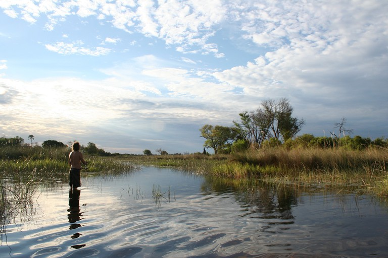 A fishing expedition in one of the rivers in Northern Botswana
