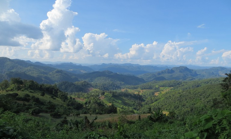 Mountain scenery in Mae Hong Son, Thailand