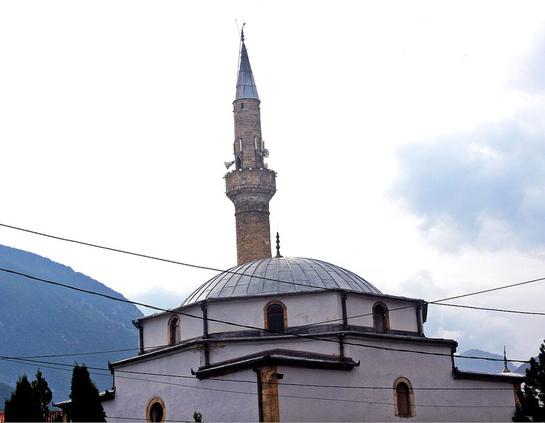 The old mosque of Peja is one of the main buildings in town
