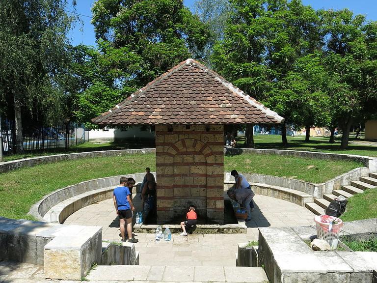 The center of the spa in Banja Vrujci