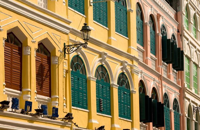 Portuguese architecture at Senado Square, Macau.