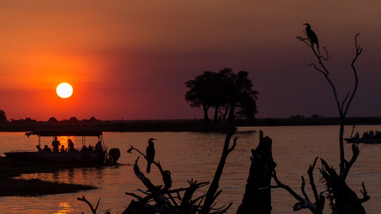 The magical Botswana sunset