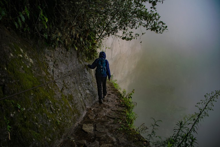 The weather in the cloud forest of Machu Picchu can turn quickly