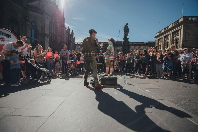 Edinburgh Festival Fringe Performer At Virgin Money Street Events, Scotland