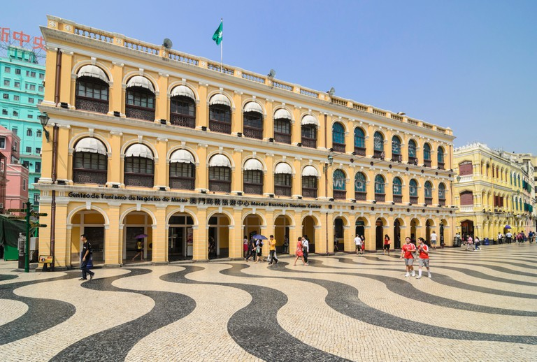 Mosaic cobbles of Senado Square, Macau, China.