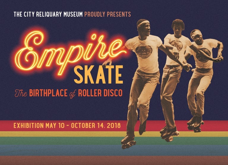Front of the Empire Skate Exhibition Postcard at the City Reliquary Museum.