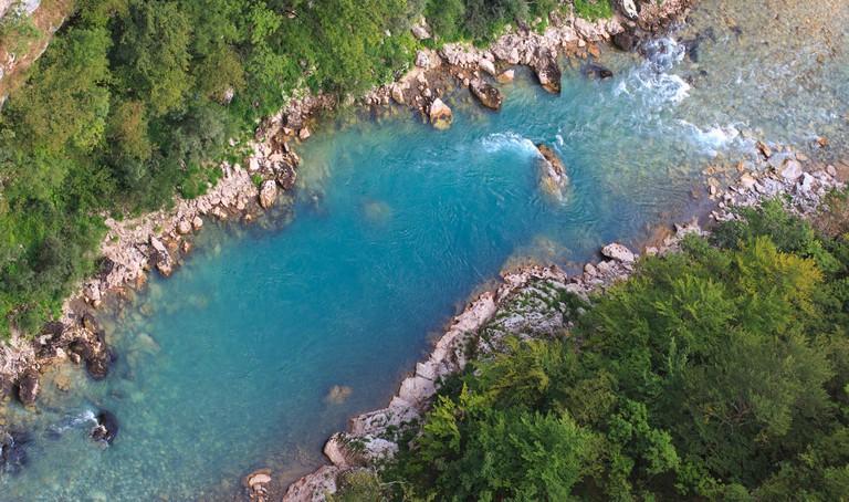 River Tara in Montenegro, Europe.