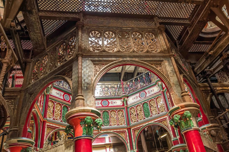 Cast ironwork at Victorian cathedral Crossness Pumping Station