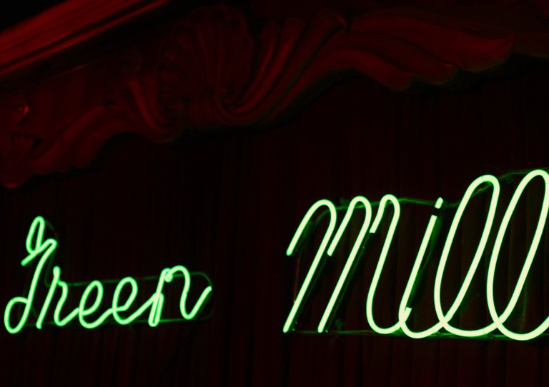 Green Mill neon sign