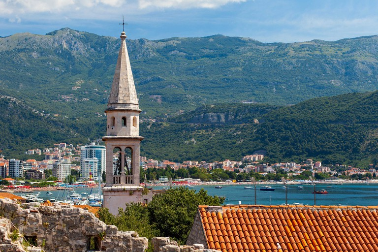 Tower in Stari Grad Budva, Montenegro.