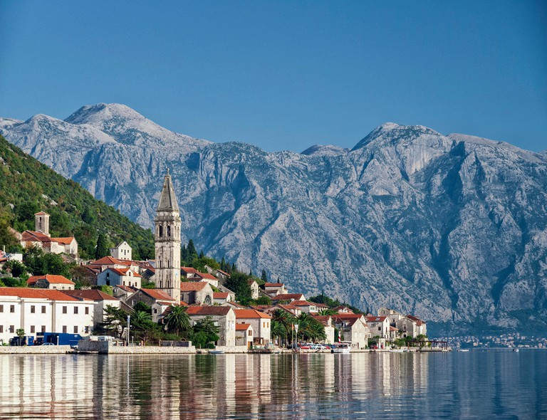 Perast traditional balkan village in Montenegro
