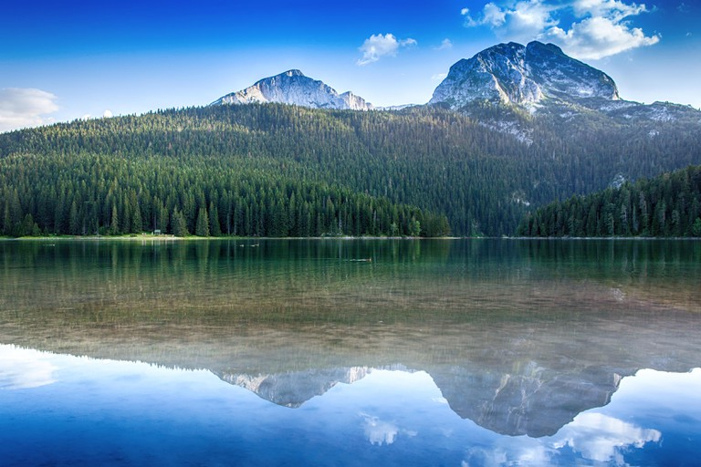 Black lake in Durmitor national park in Montenegro