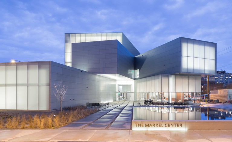 Institute for Contemporary Art at VCU's Markel Center at night