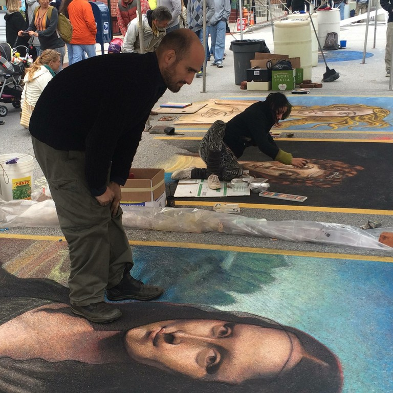 Matteo Appignani, Madonnari Arts Festival, Little Italy, Baltimore, Maryland