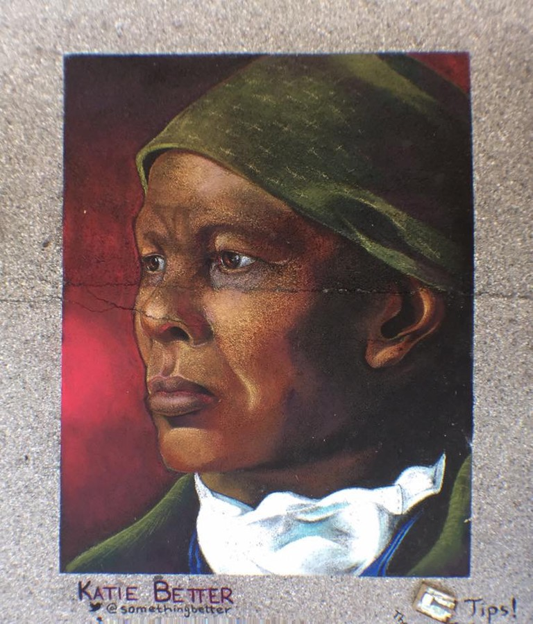 Harriet Tubman, Katie Better, 2017 Madonnari Arts Festival, Baltimore, Maryland
