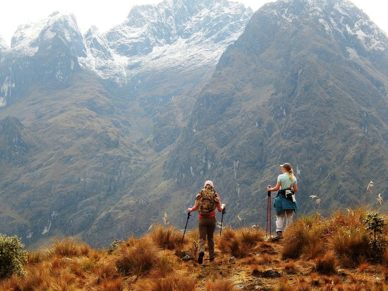 Walking poles can help on those steep descents found along the Inca Trail hike