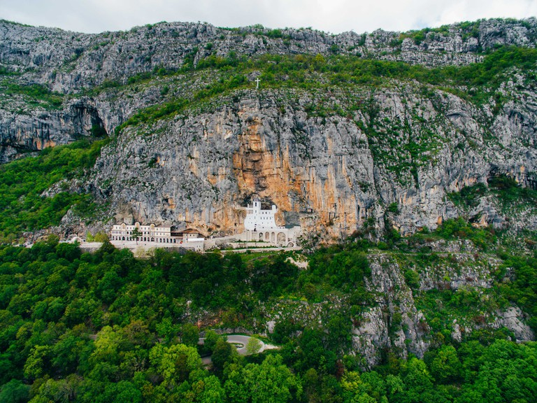 Ostrog monastery in Montenegro.